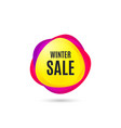 winter sale special offer price sign vector image vector image