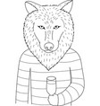 wolf vector image