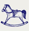 Wooden rocking horse vector | Price: 1 Credit (USD $1)