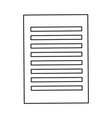 sheet paper document file icon vector image