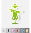realistic design element scarecrow vector image