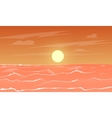 cartoon sea sunset vector image