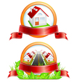 residential houses vector image
