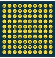 Set of emoticons icon pack vector image