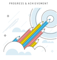 progress achievement vector image