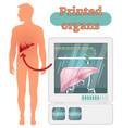 3d printed human organs concept vector image vector image