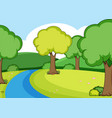a simple river scene vector image vector image