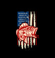 american flag with bass fish bass fishing