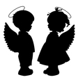 Angel silhouettes set vector | Price: 1 Credit (USD $1)