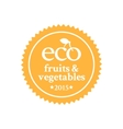Badge in retro style for ecologically pure food vector image