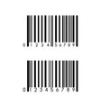 barcode icon template item scan mark for vector image
