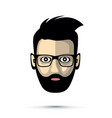 bearded man with sunglasses icon vector image