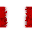 canada day background design red maple leaves vector image vector image