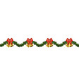 christmas horizontal seamless background vector image