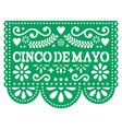 cinco de mayo papel picado design - mexican vector image