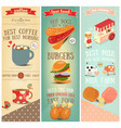 coffee fast food ice cream banners vector image vector image
