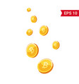 coins falling vector image