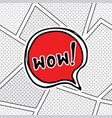 comic book speech bubble cartoon sound effect vector image
