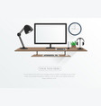 computer office and modern workspace vector image