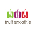 concept smoothies icons vector image