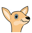 Cute funny deer head cartoon