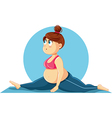 Cute Overweight Girl Doing the Splits Cartoon vector image