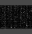 dark binary code texture vector image vector image