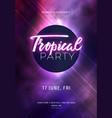dark purple neon party flyer with copy space vector image
