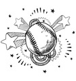 Doodle pop baseball vector | Price: 1 Credit (USD $1)