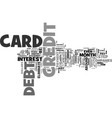 eliminate your credit card debt forever without vector image vector image