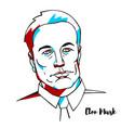 elon musk portrait vector image