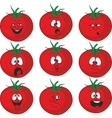 Emotion cartoon red tomato vegetables set 015 vector image vector image