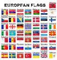 European flags grunge vector image vector image