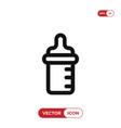 feeding bottle icon vector image vector image