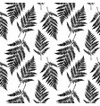 fern leaf seamless pattern background vector image vector image