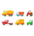 flat set of different types of vehicles vector image vector image