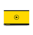 flat video player template for web and mobile apps vector image vector image
