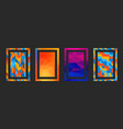 frame modern art graphics hipsters style vector image vector image