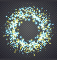 glowing magical dust lights vector image vector image