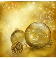 Golden Christmas balls vector image