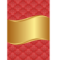 goldenand red background with vintage pattern vector image