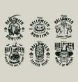halloween vintage labels set vector image vector image