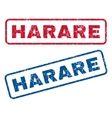 Harare Rubber Stamps vector image vector image