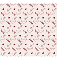 heart and love seamless pattern vector image vector image