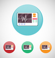Heart rate monitor icon set vector image