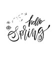 hello spring - hand drawn inspiration quote vector image vector image