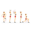 high knee and triceps chop vector image vector image