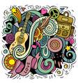 hippie hand drawn doodles vector image vector image