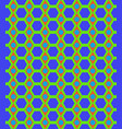 honeycomb and circle seamless pattern vector image vector image