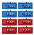 icons for digital clocks vector image vector image